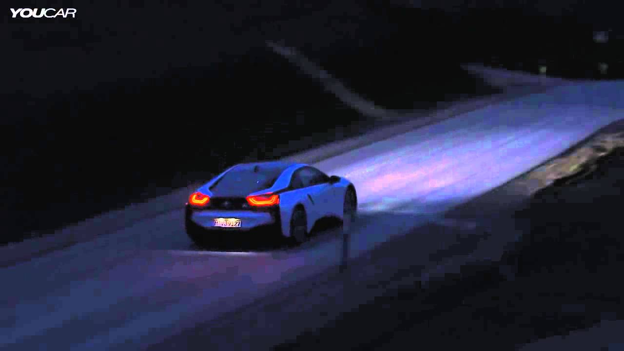 2014 Bmw I8 By Night Bmw Laserlight And Selective Beam Youtube