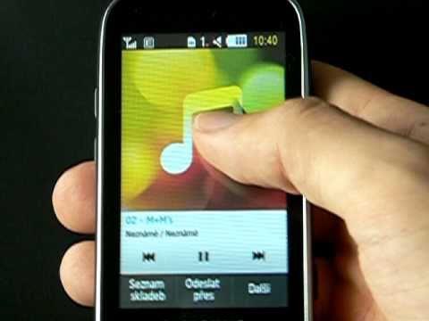 Samsung S5560 - hudební přehrávač