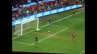 Uruguay Vs Ghana-Penalty Shoot-Out. World Cup 2010
