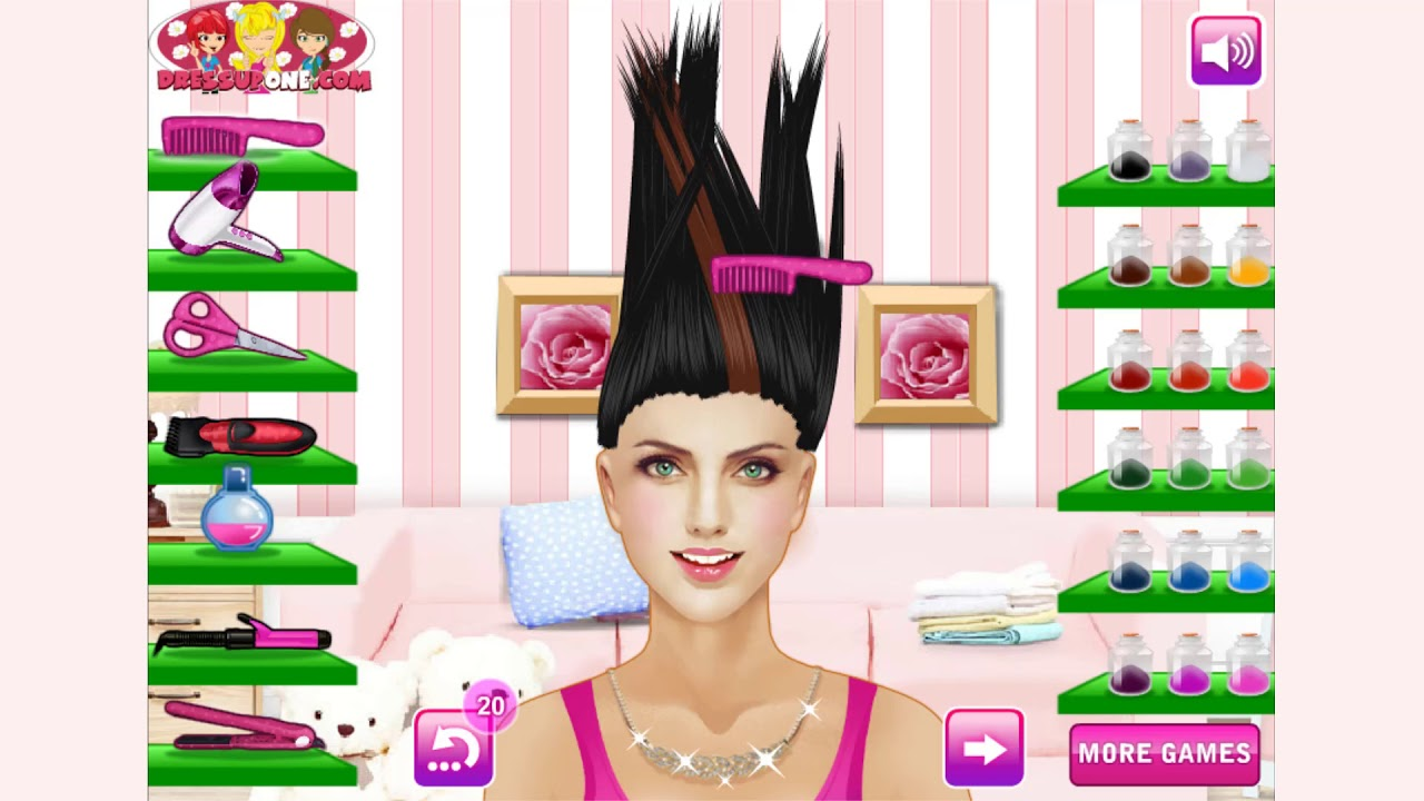 How To Play Glam Hair Salon Game Free Online Games Mantigames Com Youtube