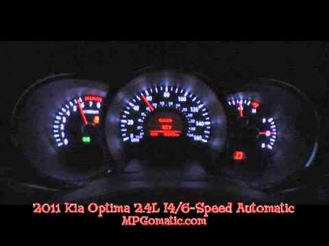 2011 Kia Optima 0-60 MPH - YouTube