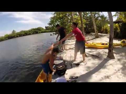 Kayaking to an Island (Stuart, Fl.)