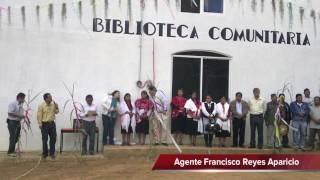 Germán Simancas inaugura biblioteca de San Miguel del Progreso
