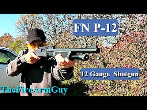 Download FN P-12 Pump Action 12 Gauge Shotgun - TheFireArmGuy