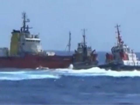 Chinese ships surround, T-bone Vietnamese ship in South China Sea