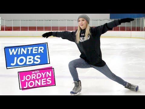 JORDYN JONES ICE SKATING | Winter Jobs w/ Jordyn Jones