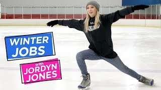 JORDYN JONES ICE SKATING | Winter Jobs w/ Jordyn Jones