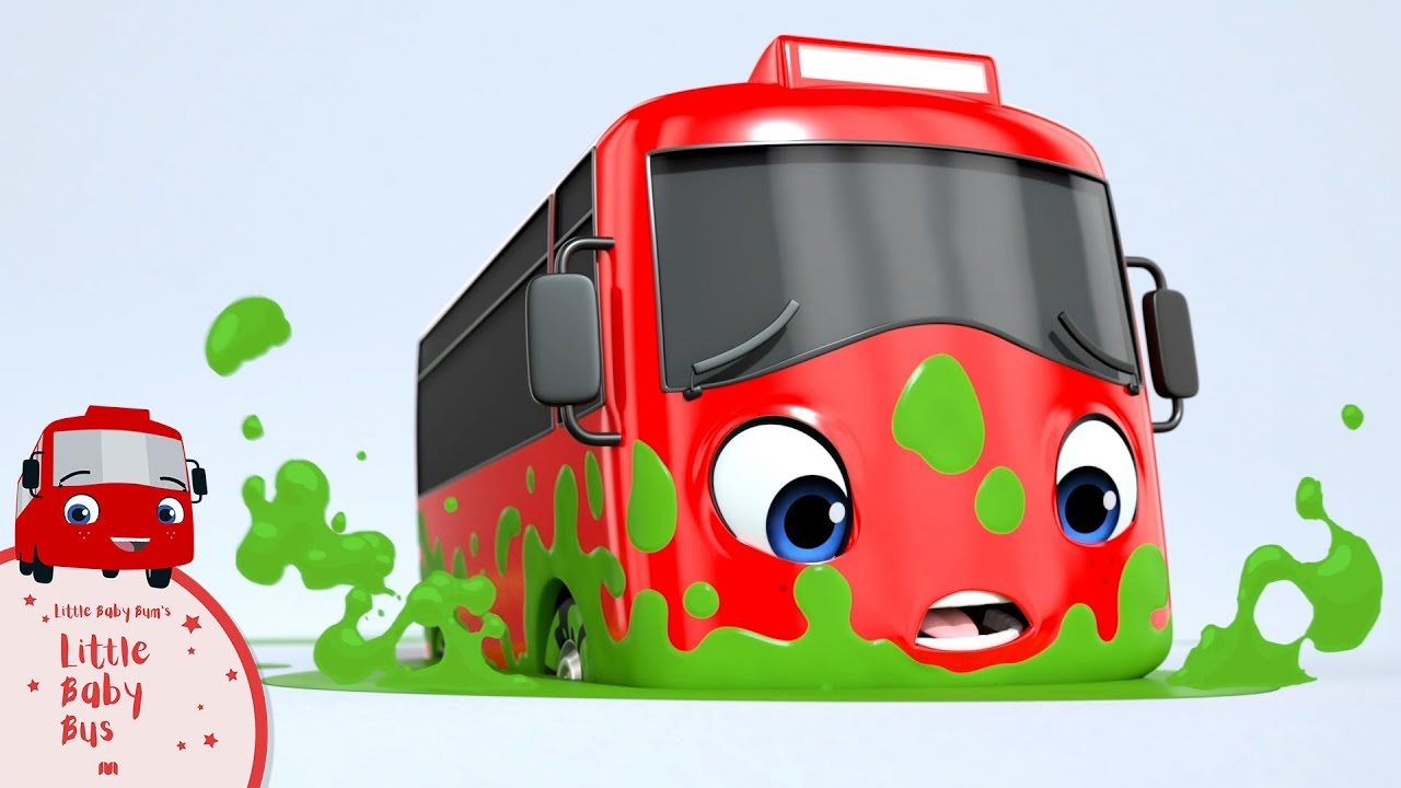 Buster's Stuck in the Green Slimy Puddle   Little Baby Bus   Kids Cartoons   Children's Stories