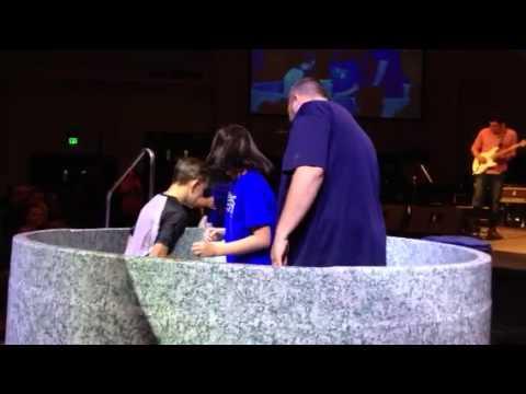 Kids Getting Baptized