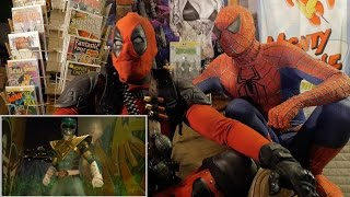 GREEN RANGER vs RYU - REACTION SPANDEX - WITH SPIDER-MAN AND DEADPOOL