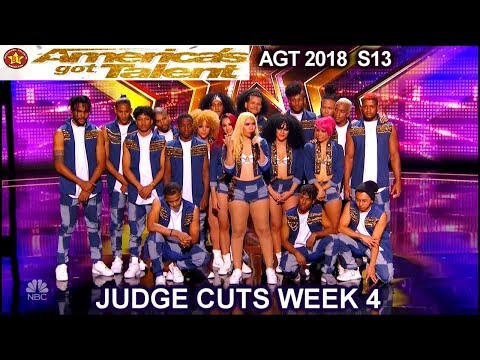 Da Republik Dance Group  Dominican Republic INCREDIBLE America's Got Talent 2018 Judge Cuts 4 AGT