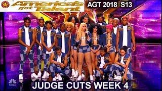 Video Da Republik Dance Group  Dominican Republic INCREDIBLE America's Got Talent 2018 Judge Cuts 4 AGT download MP3, 3GP, MP4, WEBM, AVI, FLV Oktober 2018