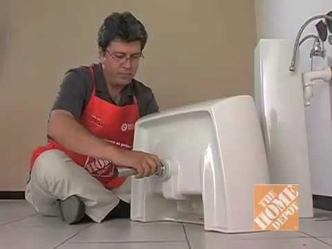 C mo instalar una mezcladora de lavabo youtube for Lavamanos sin instalacion