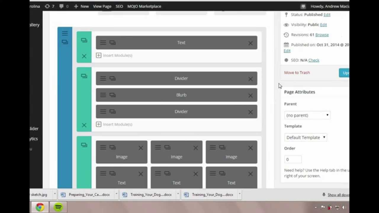 How to edit a page on the divi theme on wordpress youtube for How to edit wordpress templates