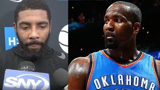 Kendrick Perkins Threatens To FIGHT Nets Fan Over Kyrie Irving Criticism!