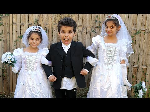 The Wedding of Sami pretend play funny  kids videos,les boys tv