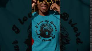 I love my Briard  my heart of fur Shirt Premiere (Stopmotion)