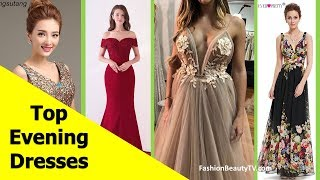 Top 50 beautiful Evening dresses with sleeves, long evening dresses for women S4