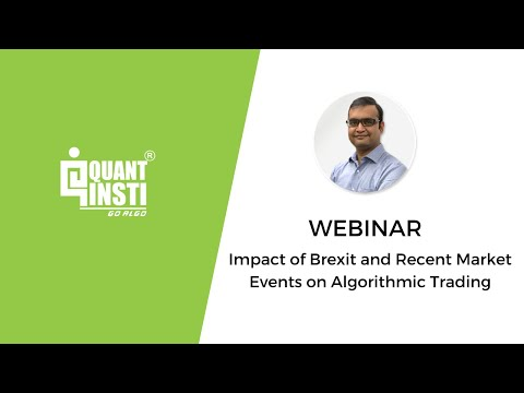 Impact of Brexit and Recent Market Events on Algorithmic Trading - 19 July 2016