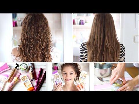 Meine Haar Routinen Lockig Und Glatt Youtube