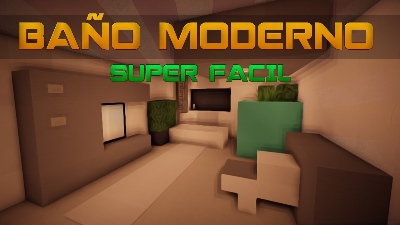 Minecraft como decorar un ba o moderno tutoriales de for Como disenar un bano pequeno moderno
