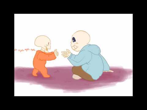 papyrus playing with sans |baby bones dub