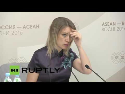 Live: Maria Zakharova, spokeswoman of the Russian foreign Ministry's weekly Press