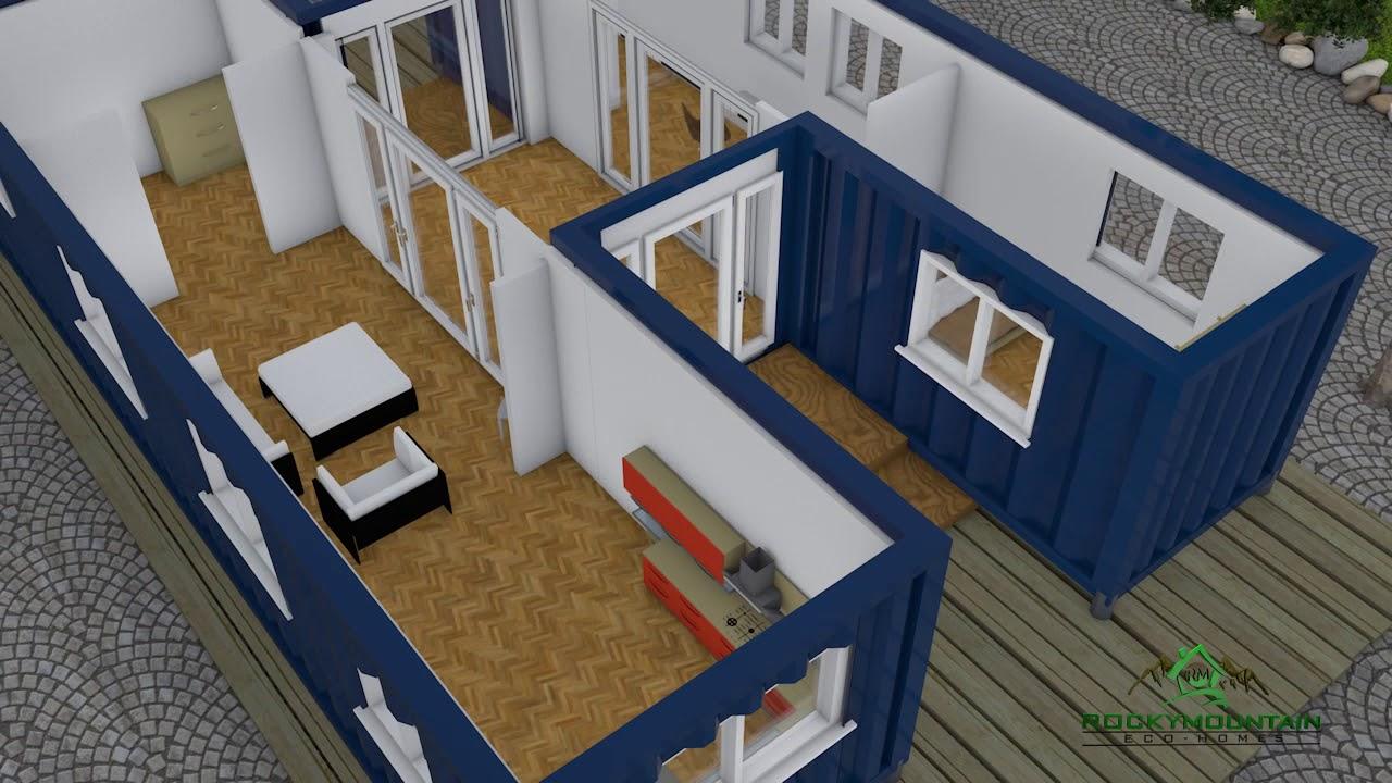 Rocky Mountain Eco Home Floor Plan 1 Youtube