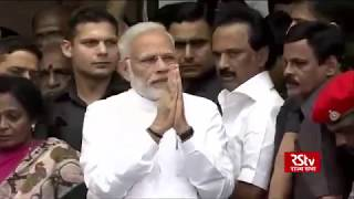 PM Modi pays homage to DMK chief M Karunanidhi