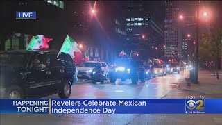 Revelers Celebrate Mexican Independence Day Downtown