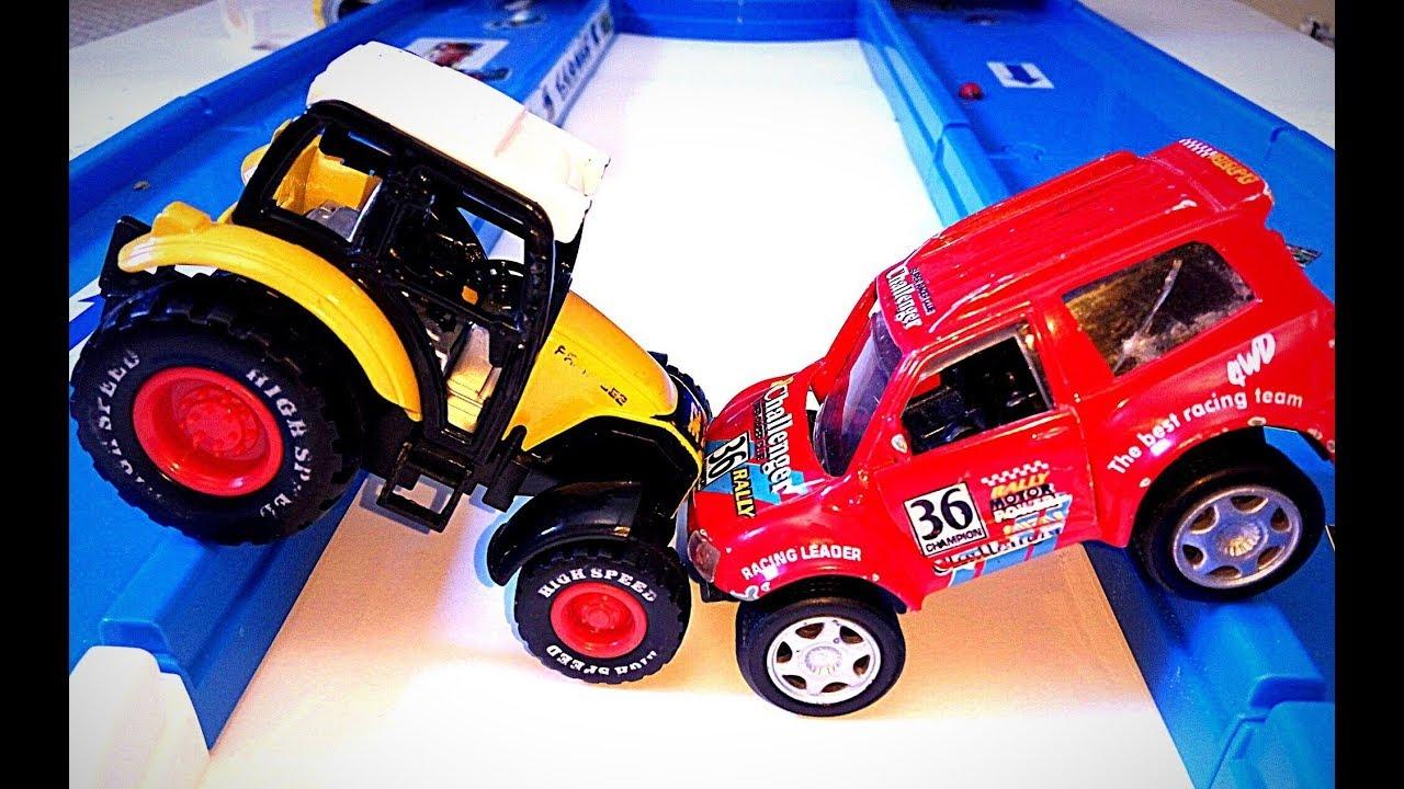 Машинки на дороге Видео для детей про машинки и игрушки для мальчиков Детский трактор мультики детям