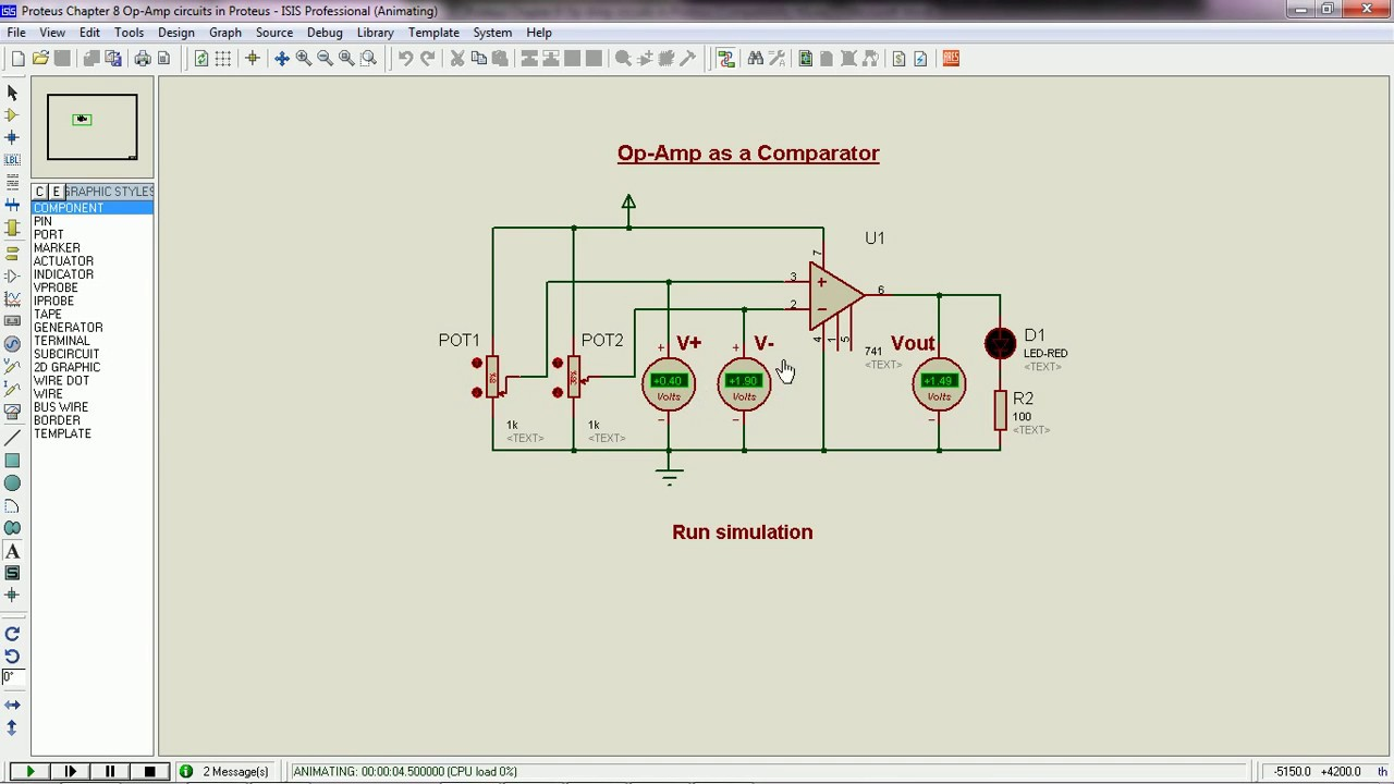 op amp circuits in proteus electronic circuits and diagrams electronic projects and design [ 1280 x 720 Pixel ]
