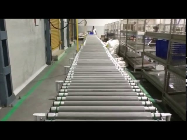 Expandable Flexible Roller Conveyors Provided to India's Largest Ecommerce Company-Canopus Conveyors