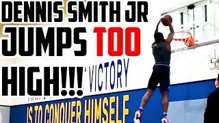 DENNIS SMITH JR JUMPS TOO HIGH!!!