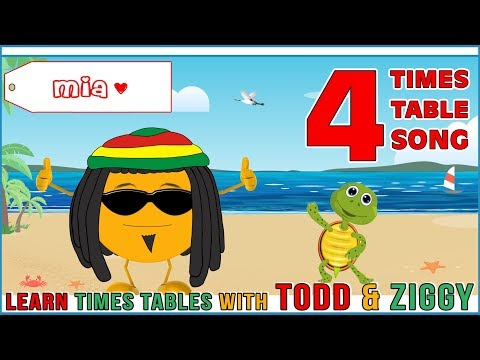 4 Times Table Song Learning is Fun The Todd & Ziggy Way!