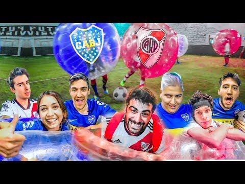 RIVER vs BOCA   FUTBOL en BURBUJAS con M. Becerra, Chapu Martinez y Ale Sanzi