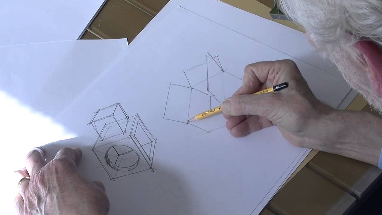 Leer tekenen online   Perspectief tekenen   Kubus