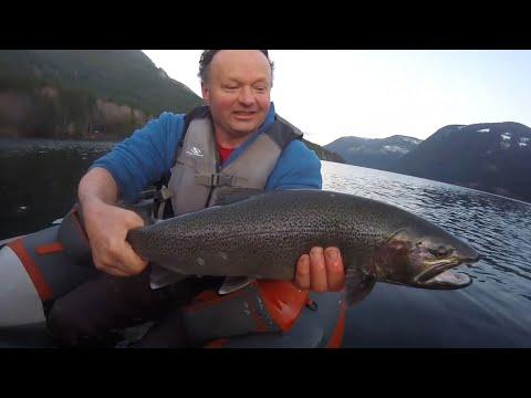 Kayak Fishing For Giant Steelhead On Vancouver Island