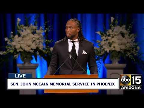 FULL: Larry Fitzgerald speaks at Sen. John McCain's memorial service