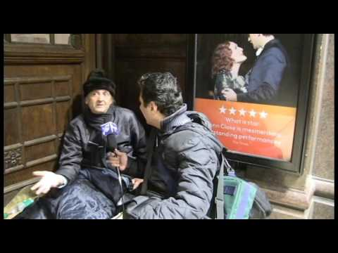 Rough sleeper in London multimedia project