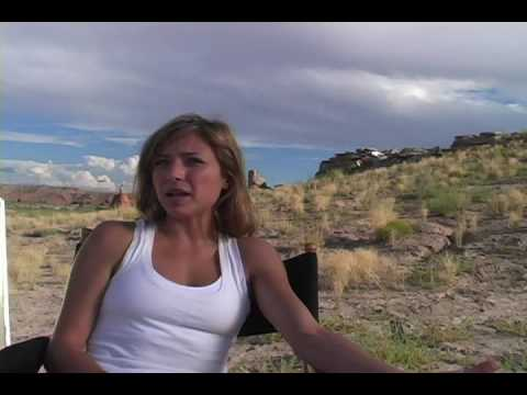 """Christine Lakin """"RED CANYON"""" on set Interview"""