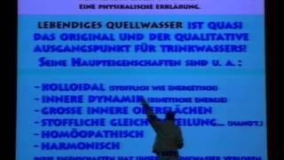 DGEIM-Vortrag, Homöopathie im Wasser, Memory Effekt im Wasser, Lebendiges Wasser, Kristallwasser