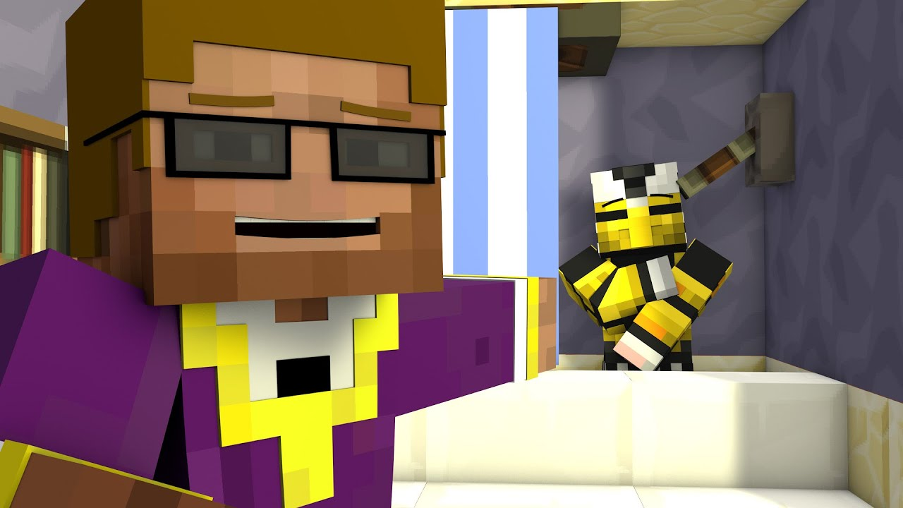 CREWCRAFT Animated BATHROOM FUN A Minecraft Animation – Bathroom Fun
