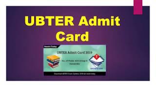 UBTER Admit Card 2019 | Check 401 Group D Vacancies Hall Ticket