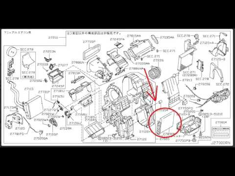 how to change wingroad ac filter (y12) youtube Nissan Electrical Diagrams