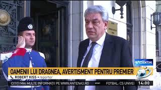 Oamenii lui Dragnea îl amenință pe premierul Tudose cu demiterea
