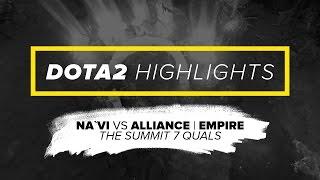 NAVI.Dota2 Highlights vs Alliance | Empire @ The Summit 7 Quals