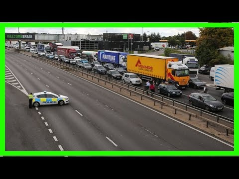Breaking News   M1 closure object 'possibly acid'