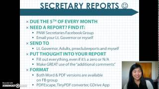 Secretary Training 2015 - Part 1