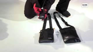 作業現場への移動時に便利な小物バックの使い方